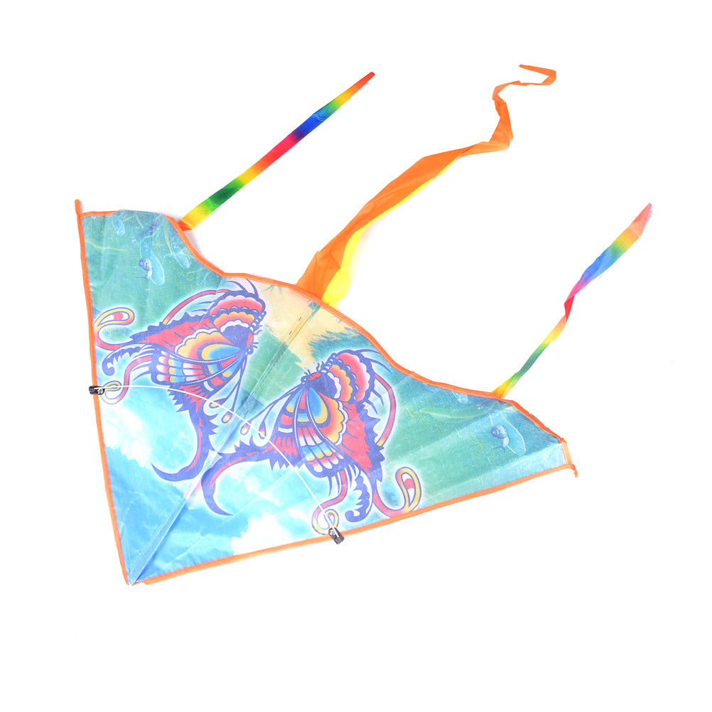 1Pcs 80cm Traditional Butterfly Kite Easy To Fly Colorful Animal Styles Foldable Kite Outdoor Fun & Sports For Kids Children