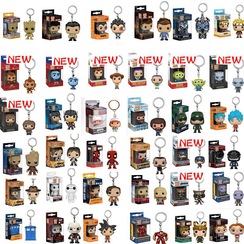 FUNKO POP Disney Bola Dragão Esquadrão Suicida superman Spiderman Batman Boneca Figura Collectible Modelo Chaveiro com caixa