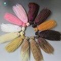 15 cm * 100 cm muñeca accesorios peluca mullida para 1/6 1/4 1/3 BJD/SD DIY pelo