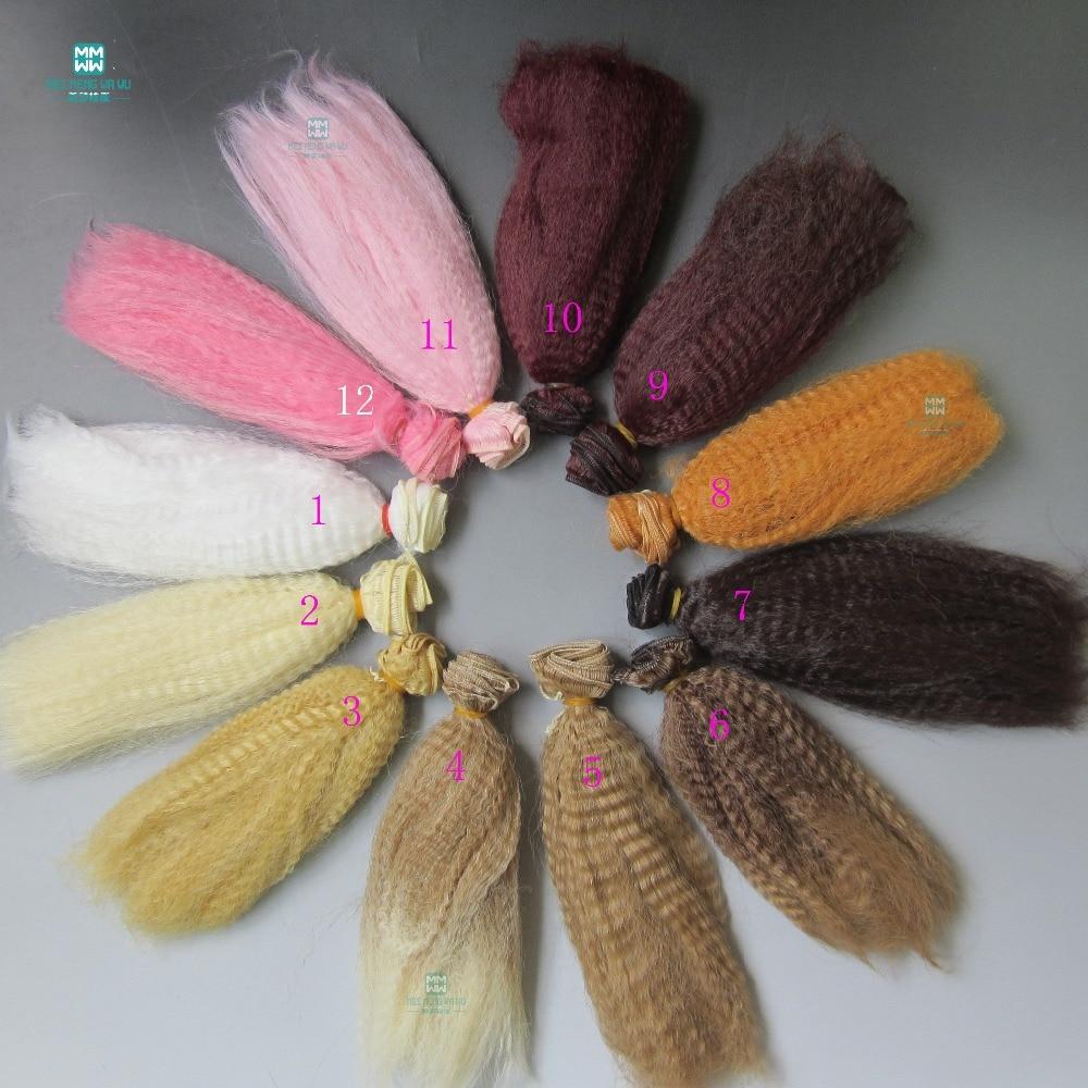 15cm * 100 cm dodatki za punčke Puhasta lasulja za 1/3 1/4 1/6 BJD / SD DIY las