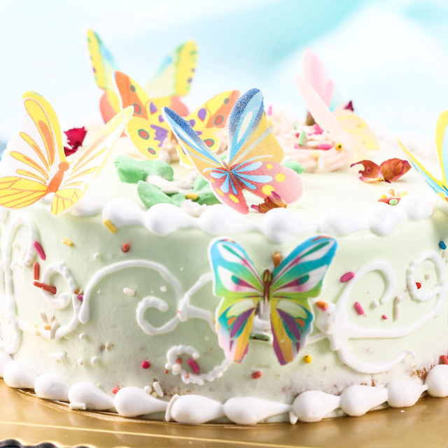 20pcs Butterfly Cake Decorating Tools Mixed Edible Cake Topper Wafer