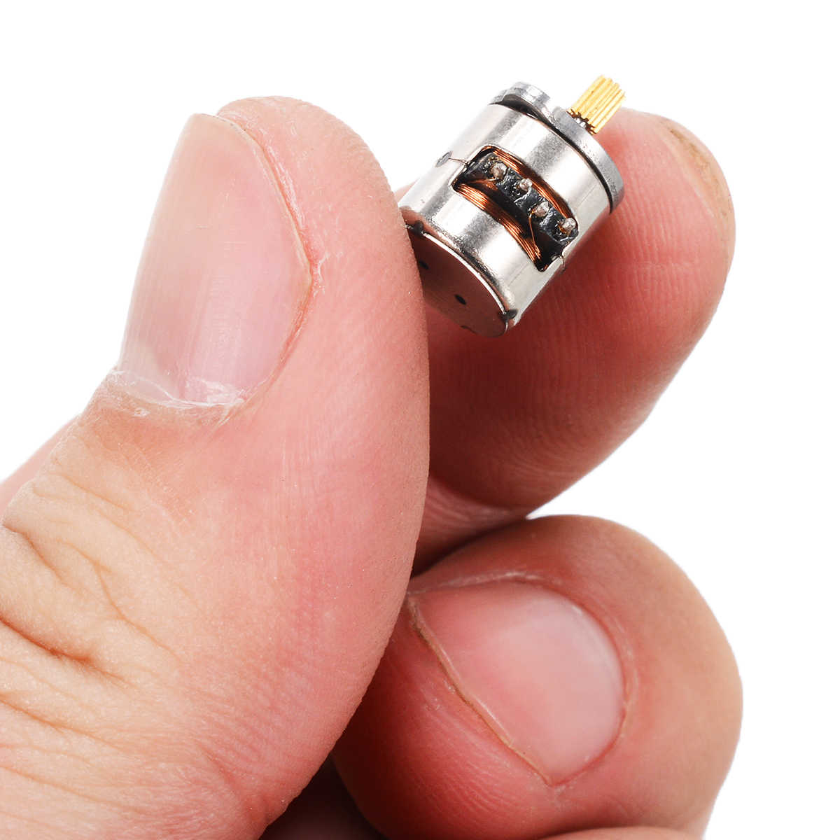 1 sztuk Mini mikro silnik krokowy 2-fazy 4-wire silnik krokowy z miedziana zębatka 8x9.2mm do części silnika akcesoria