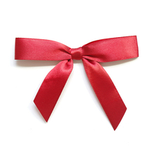 Free Shipping 600pcs lot Red Gift Packaging Bow Gift Wrap Ribbon Bow with Gold Twist Tie