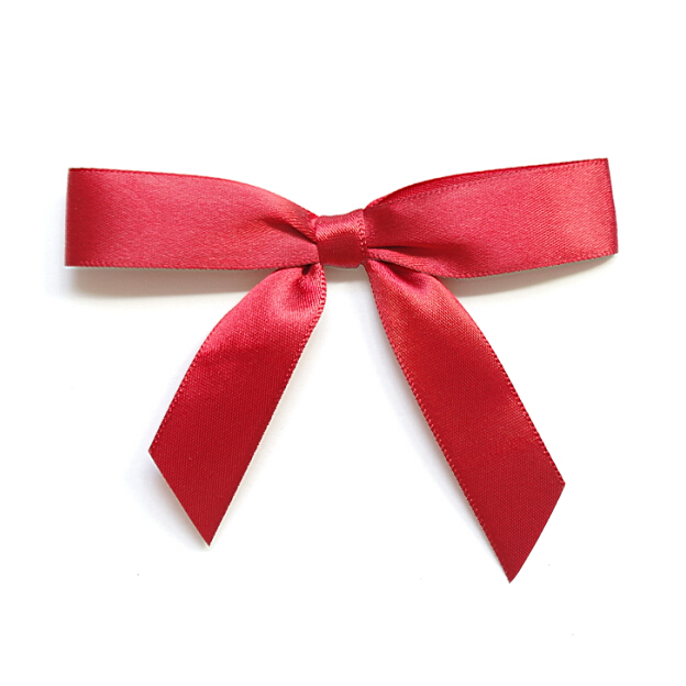 Free Shipping 600pcs/lot Red Gift Packaging Bow Gift Wrap Ribbon Bow with Gold Twist Tie