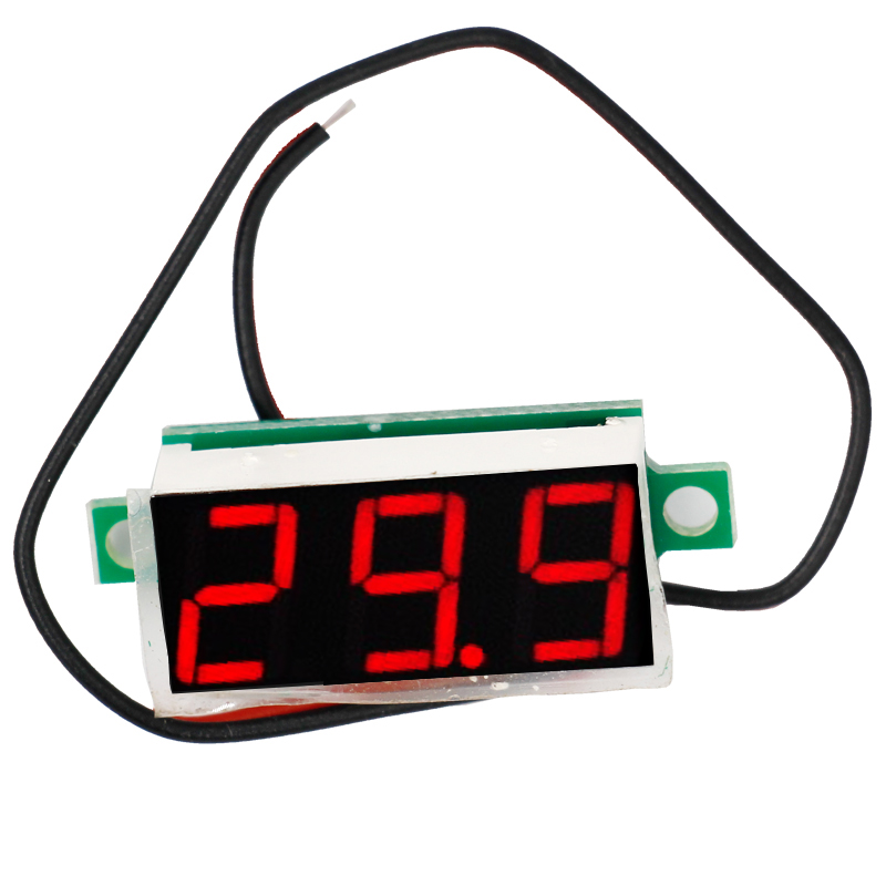 <font><b>10pcs</b></font> 0.28' 2 wire DC 2.4V-30V Mini Digital <font><b>Voltmeter</b></font> Voltage Tester volt Meter LED Screen Electronic Parts Accessories 20% image
