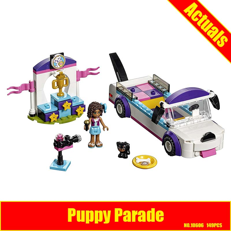 10606 Bela Friends Series Puppy Parade Convertible Model Building Block Bricks Compatible With LEPIN Friends 41310