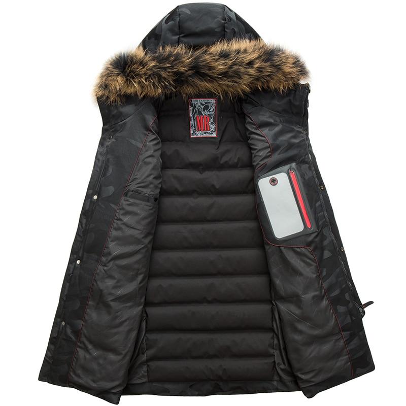Black Cappuccio Piume Bianca Inverno D anatra Camouflage Reale Collo 100  2018 camouflage Tasche Pelliccia Red ... 4d7fb9198cb