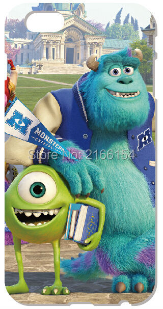 Monsters University Shell Cover For iphone 10 X 4 4S 5 5S SE 5C 6 6S 7 8 Plus For iPod Touch 5 6 Phone Case Coque Fundas Bumper