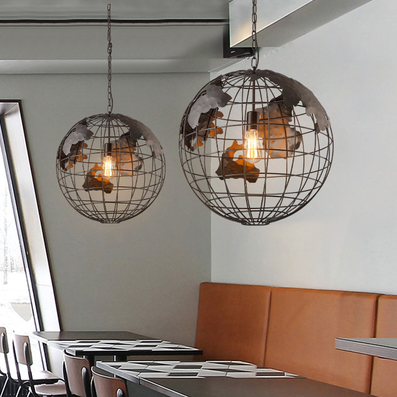 Retro industry wind Restaurant Bar Cafe Bar Iron and creative personality to do the old art single head Pendant Lights GY234 classical chinese food industry restaurant bar cafe original wood single head pendant lights rmy 0247