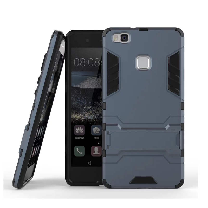 Huawei P9 Lite tokhoz - Hibrid 3D-s vasember kemény páncélos - Mobiltelefon alkatrész és tartozékok