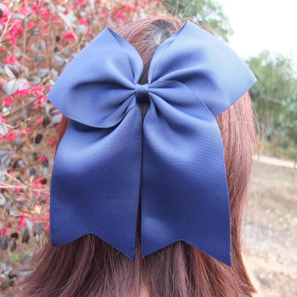 2 ピース 8 インチクリップで大手弓大 hairbow ヘアクリップヘアピン休日ダンス弓女の子弓