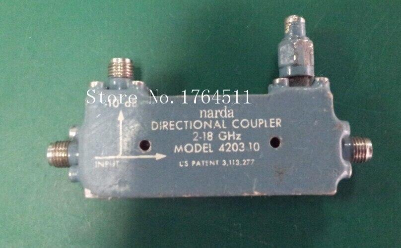 [BELLA] Narda 4203-10 2-18GHz 10dB SMA Fixed Coaxial Coupler