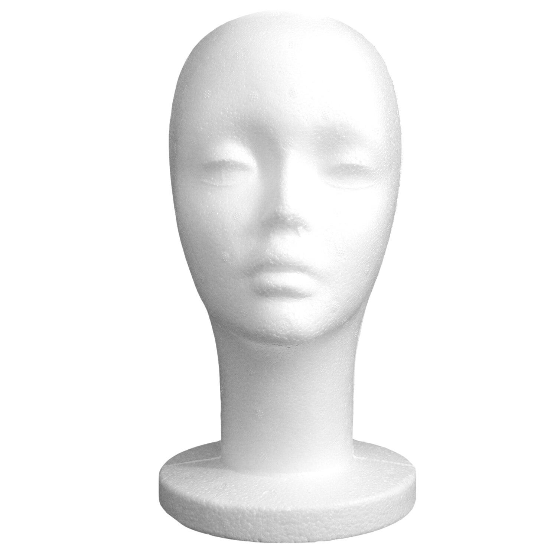Hot White Female Styrofoam Mannequin Manikin Head Model Foam Sponge Wig  Hair Glasses Display Glasses Cap Display Stand-in Mannequins from Home &  Garden on ...