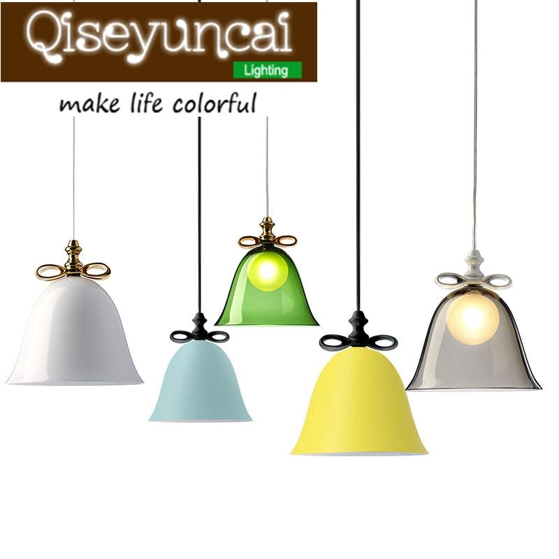 Qiseyuncai Modern minimalist single head bow Macarons Iron Chandelier personality creative designer lighting