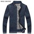 Hee grand homens moda estilo grossa camisola gola cor sólida fina lã mzl683 warmearly primavera cardigan plus size m-3xl
