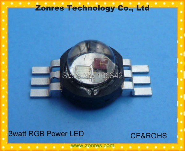 Hot sale!! 3watt RGB High Power LED Lamp Epistar Chip  with CE&ROCHS 10pcs/lot