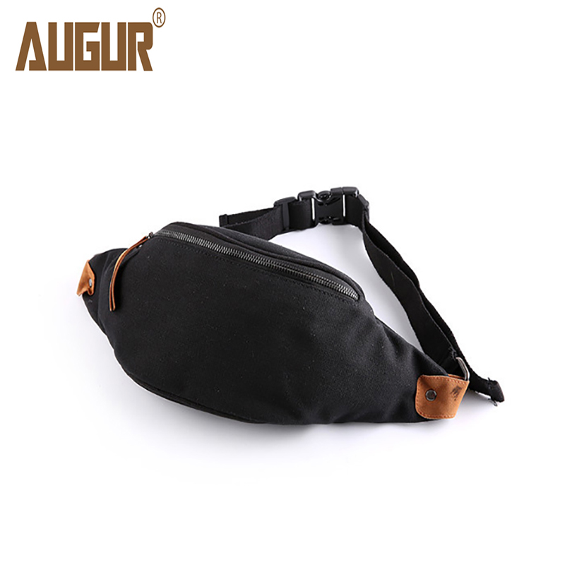 Brand New Arrival Mens Canvas Chest Bags Korean Style Casual Fashion Man Simple Solid Zipper Bags Sacoche Homme