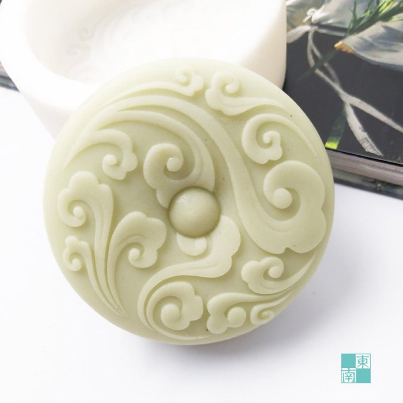 Free Shipping Soft Silicone Mold Soap Mould Diy Chinese Auspicious Clouds Shape Z0043