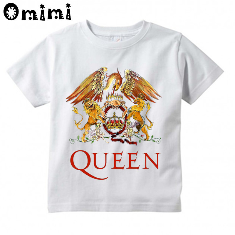 Boys/Girls Rock Band Queen Printed T Shirt Kids Casual Short Sleeve Tops Childrens Funny White T-ShirtBoys/Girls Rock Band Queen Printed T Shirt Kids Casual Short Sleeve Tops Childrens Funny White T-Shirt
