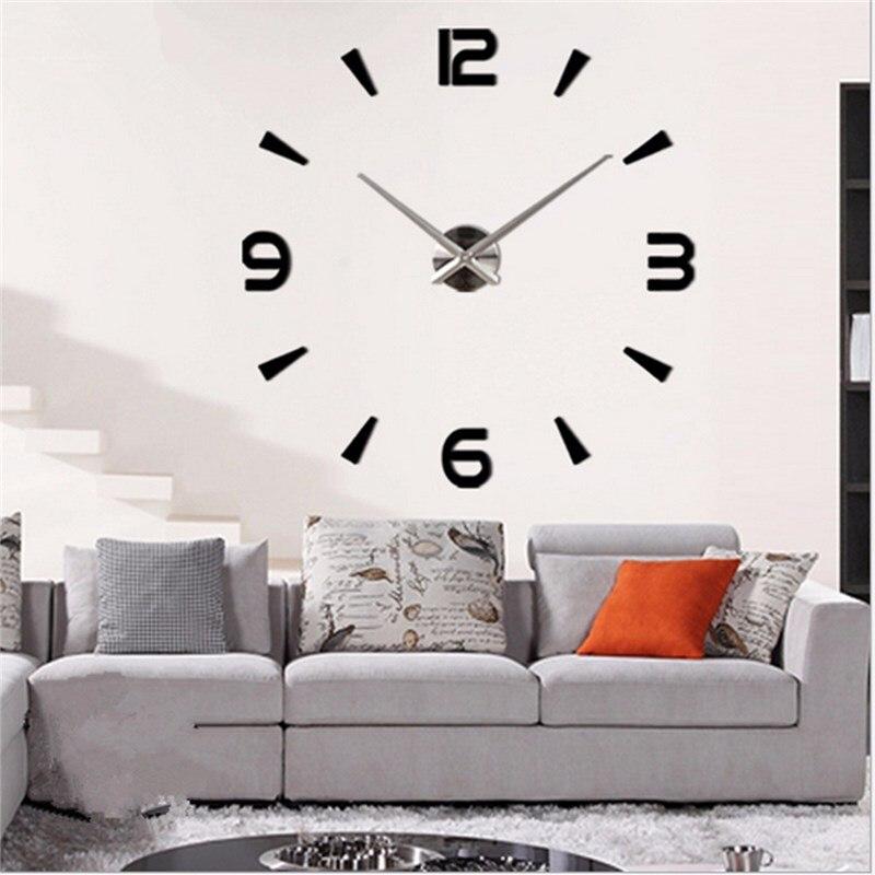 digital large wall clock big wall clock 3d diy clock acrylic mirror stickers quartz modern