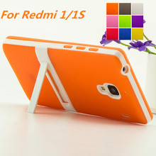 Ultra-thin PC Frame Red Rice 1 Soft Case Cover TPU Silicon Case For Xiaomi Redmi 1 1S 4.7inch Matte Feel Capa Fundas Free 1 Film