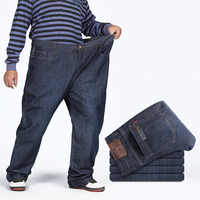 High Quality Baggy Denim Jeans For Man New Loose Clothing Pepe Pants For Big Men Regular
