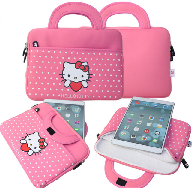 f1c365fe2050 ULIFART Pink Cute Hello Kitty 10.5inch Tablet Case Sleeve Carrying Bag  Cover For Apple iPad Samsung GALAXY Tab