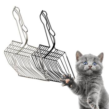 Plated Metal Large Size Cat Litter Shovel Scoop With Cleaning Brush In Random Color Pet Cleanning Tool