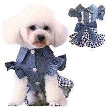 Весенняя одежда для собак, джинсовое платье для собак, джинсовая юбка, платье для маленьких собак, одежда для щенков, чихуахуа, Йоркцев, Одежда для питомцев Тедди
