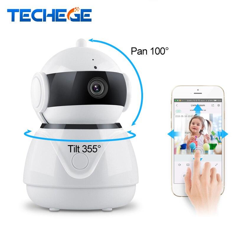 Techege 1080 P cámara IP inalámbrica de dos vías de Audio Wifi seguridad 2MP CCTV cámara PTZ cámara de seguridad Cámara SD tarjeta opcional