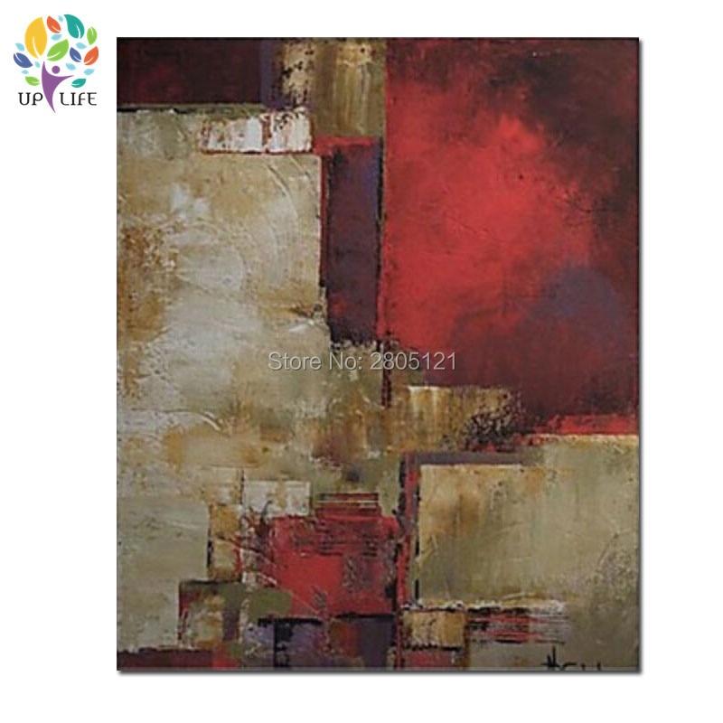 Ručně malované Abstraktní tmavě červený olej Malování na plátně Moderní olej Obrázek Nástěnné umění Dekorace kus abstraktní umění malby