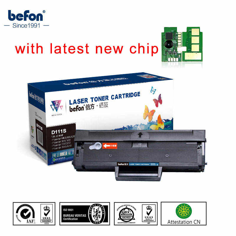 Befon Hitam Diisi Ulang D111S Cartridge Kompatibel untuk Samsung MLT-D111S ML111 111 111S Toner Cartridge M2020 2022W 2070W printer