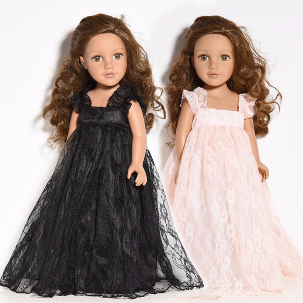 1 Pcs Yarn Lace Dress Clothes for Dolls 45cm American Girl Doll Baby Born Doll Accessories