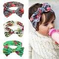 1 Novos Do Bebê Meninas Da Criança Infantil Recém-nascidos Flores Impressão Floral Da Borboleta Arco Nó Hairband Turban Headband Faixa de Cabelo Acessórios