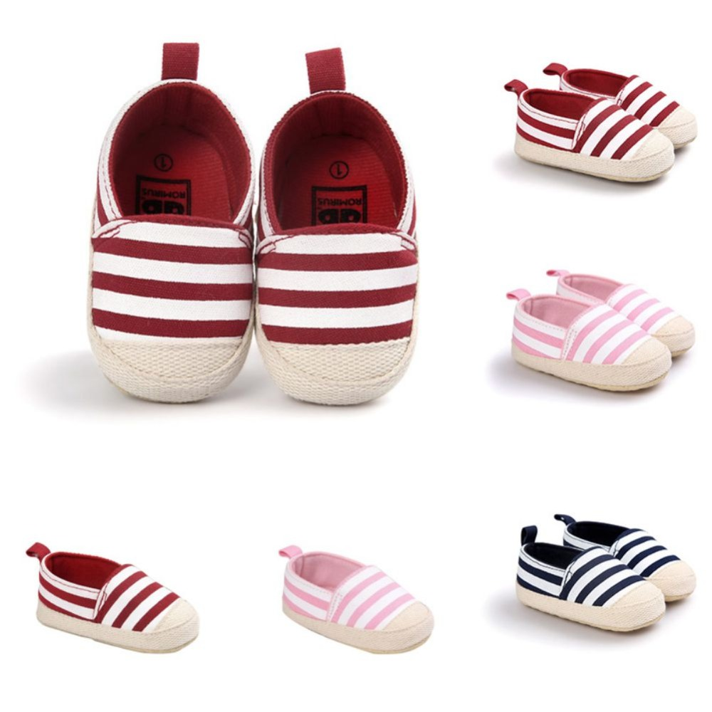42f3242ce289 2018 Fashion Blue Striped Baby Boy Shoes Lovely Infant First Walkers Good  Soft Sole Toddler Baby Shoes Hot Sale New P11-in First Walkers from Mother    Kids ...