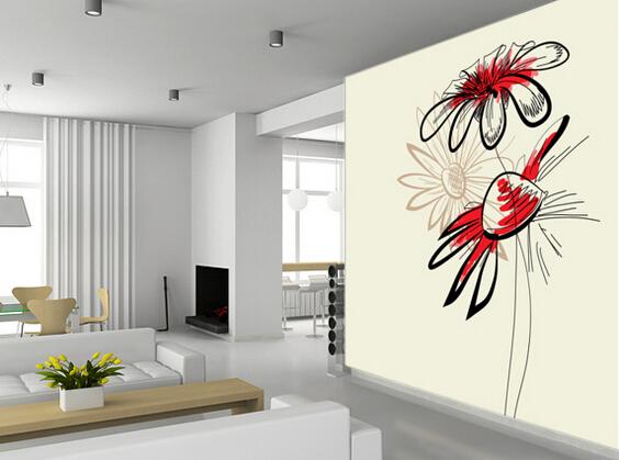 papel pintado flores abstractas artstica d fondos de escritorio para el dormitorio sala de