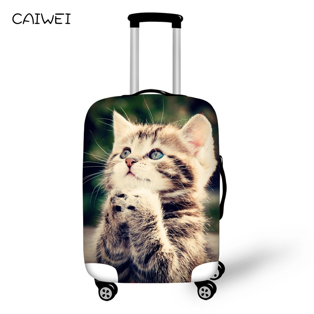Suitcase Protective Covers 18-30 inch Travel Accessories Cat Prints Waterproof Luggage Cover Elastic Trolley Case Cover