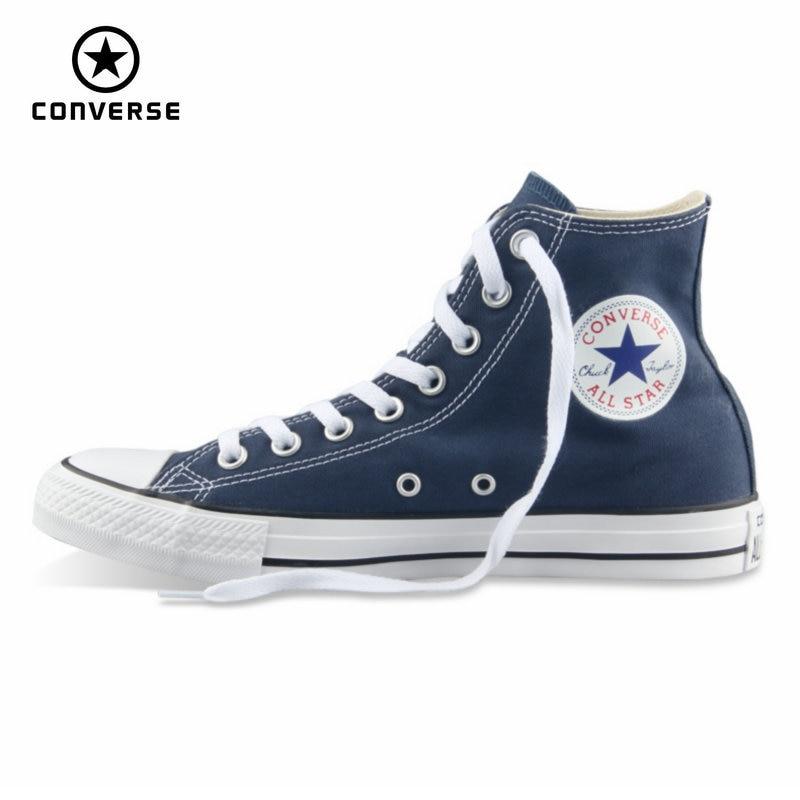 Первоначально конверс все звезды обувь мужская женская кроссовки холст обувь все черные высокие классические скейтбордингом обувь беспла...