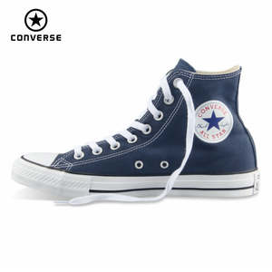 9bb421ab89b Converse men women s sneakers canvas shoes all star shoes all black high  classic