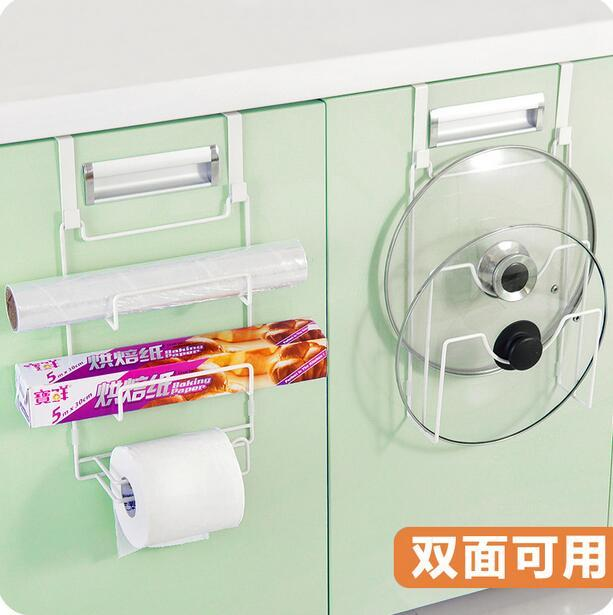 Kitchen Organizer Wall Mounted Pot Shelf Multifunctional Cabinet Door After Storage Rack Available On Both