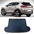 1pcs Black Interior Rear Trunk Boot Mat Carpet For Hyundai Tucson 2015-2016