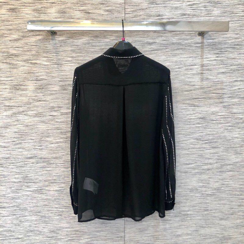 Luxe 2019 Blouses De L01169 Style amp; Européenne Chemises Partie Mode Femmes Piste Design Vêtements Marque wnqf1