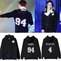 2017 kpop exo new album long sleeve shirt denim jacket female students k pop korea autumn exo Sweatshirts outwear