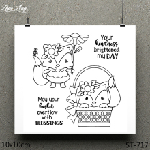 ZhuoAng Dwarf Fox Design Clear Stamp / Scrapbook Rubber Craft Card Seamless