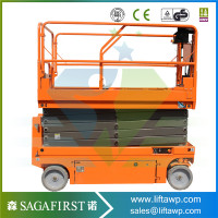 6 12m slef moving drive electric scissor lift