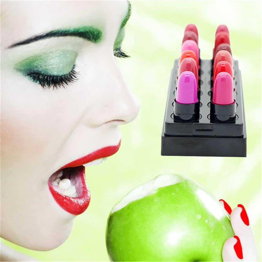 נשים קוסמטי מט שפתון 12 צבעים מותג איפור שפתיים לאורך זמן Pintalabios Mate Labiales מכירה לוהטת