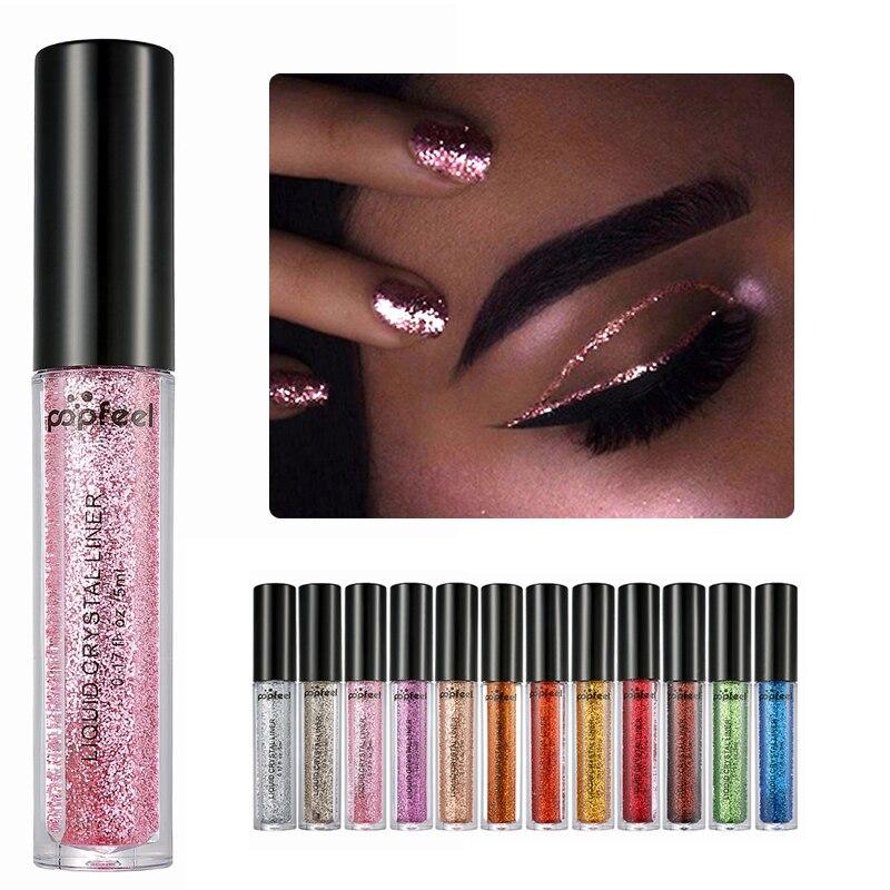 Brand <font><b>Eyes</b></font> Makeup Glitter & Shimmer Liquid Diamond Pearly Shinning Cream for <font><b>Eye</b></font> Shadow Eyeliner Make up <font><b>Eye</b></font> Liner Glitters 1 PC