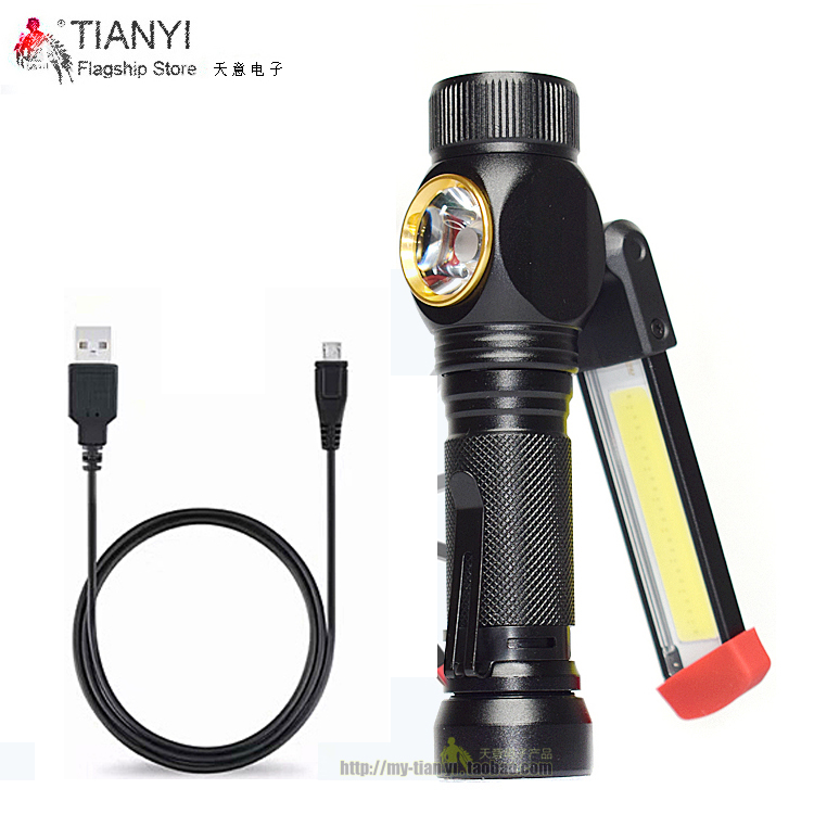 Repair Flashlight New Portable COB Flashlight Torch USB Rechargeable LED Work Light Magnetic Lanterna Hanging Hook Lamp
