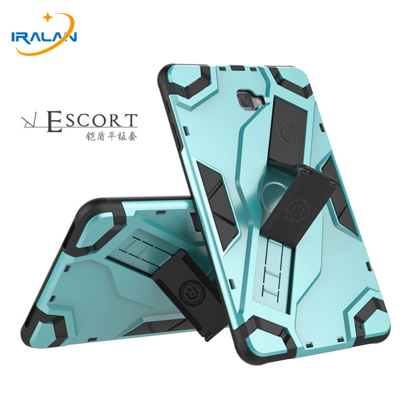 Heavy Duty Armor Tablet Case Cover For Samsung Galaxy Tab A A6 10.1 T585 T580 SM-T585 T580N TPU+PC Stand Protective Shell+4 in 1 fashion flowers case for samsung galaxy tab a a6 10 1 2016 t580 t585 sm t585 case cover tablet stand pc pu leather shell funda