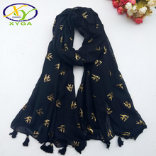 купить 1PC 190*100CM 2016 Autom New Design Cotton With Small Beads Chain Bordure  Women Long Scarf Woman New Cotton Shawls Pashminas дешево